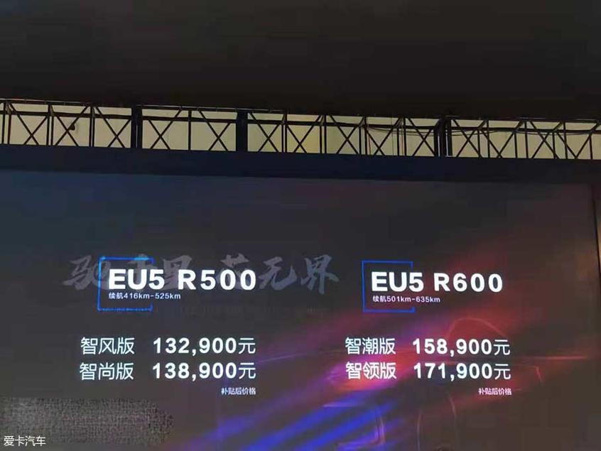 2019成都车展:北汽新能源EU5 R600上市