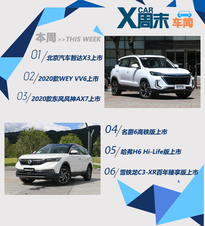 周末车闻 多款国产新SUV本周密集上市