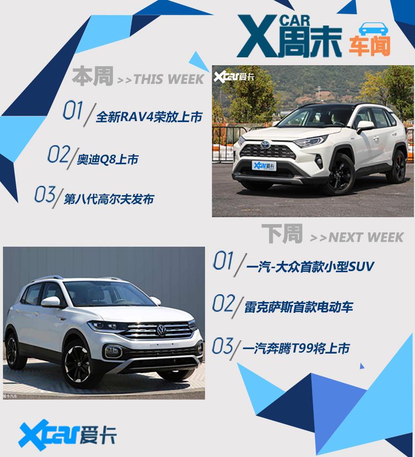 周末车闻 RAV4荣放/一汽-大众的小型SUV