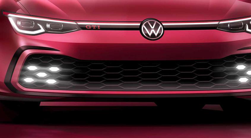新一代高尔夫GTI预告图 日内瓦车展亮相