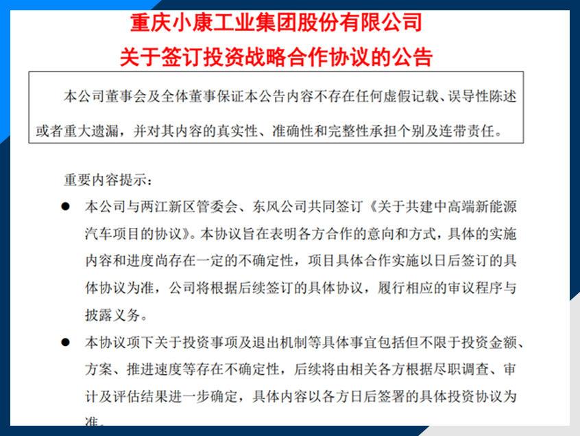 金康新能源获重庆政府投资20亿元