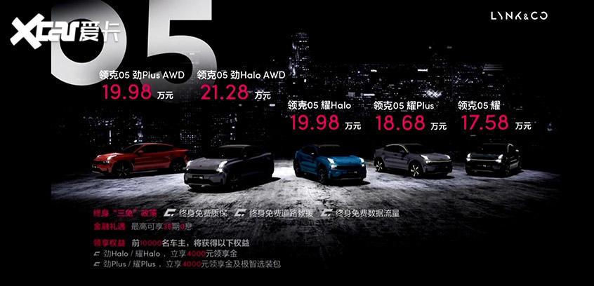 领克首款轿跑SUV-05上市 售17.58万元起