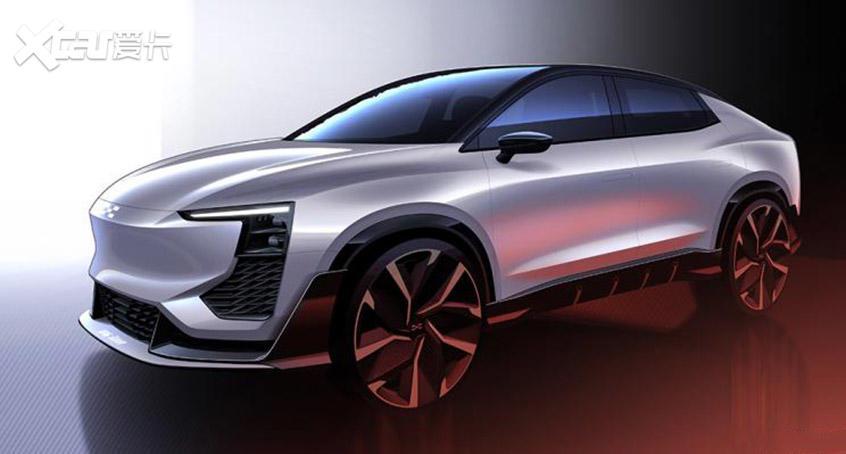 爱驰U6 ion设计草图曝光 日内瓦车展首发