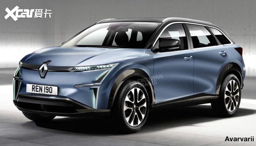 雷诺全新电动SUV效果图 明年10月亮相