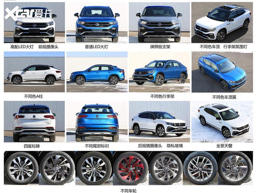 一汽-大众SUV Coupe申报图 或命名探岳X