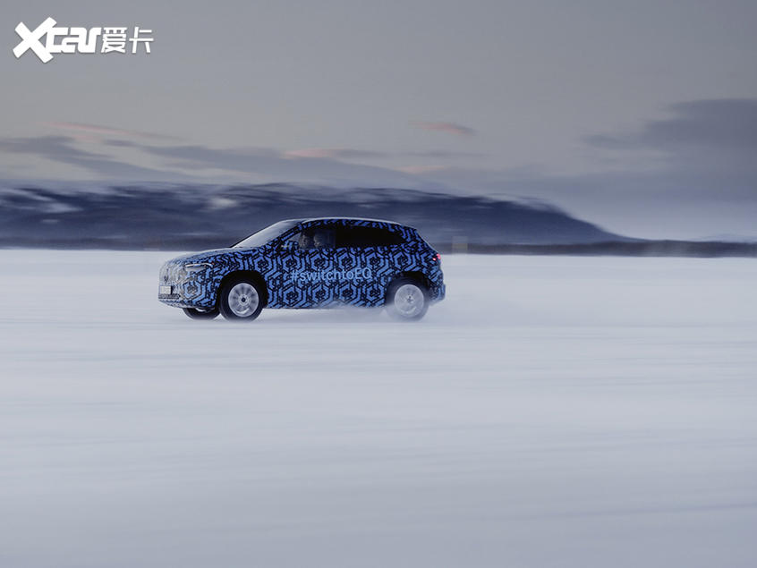 奔驰EQA冰雪测试谍照巴黎车展正式亮相