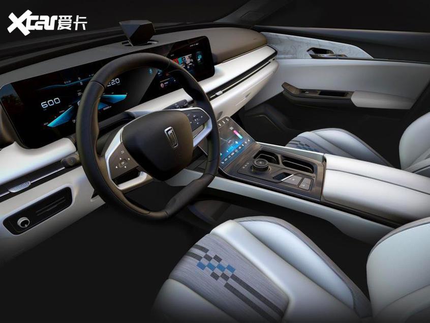 奔腾纯电动SUV-E01内饰首曝 将7月上市