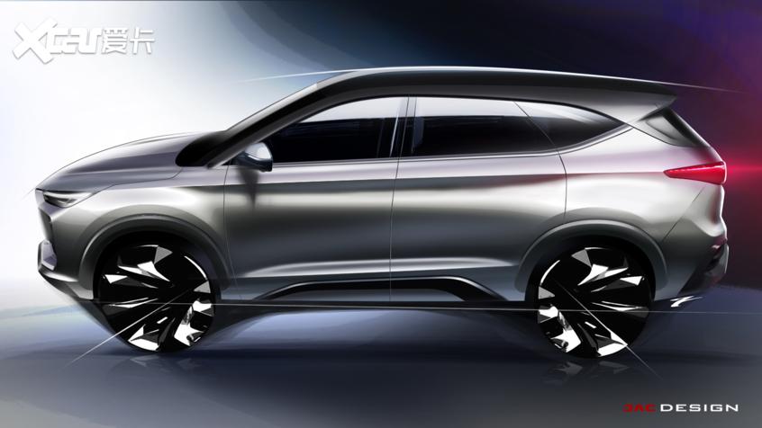 江淮嘉悦X8设计效果图曝光 中大型SUV