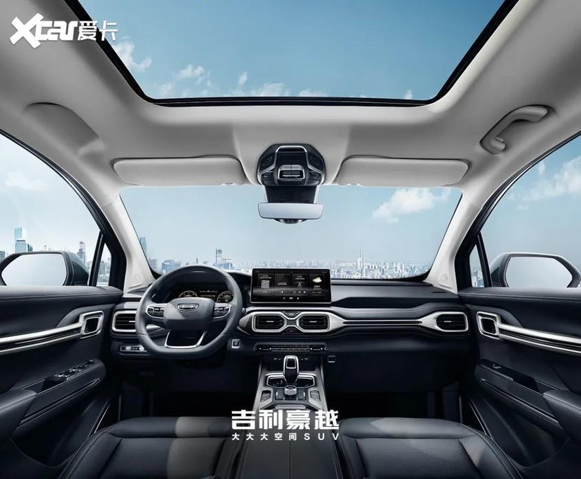 吉利豪越最新内外官图曝光 7座中型SUV