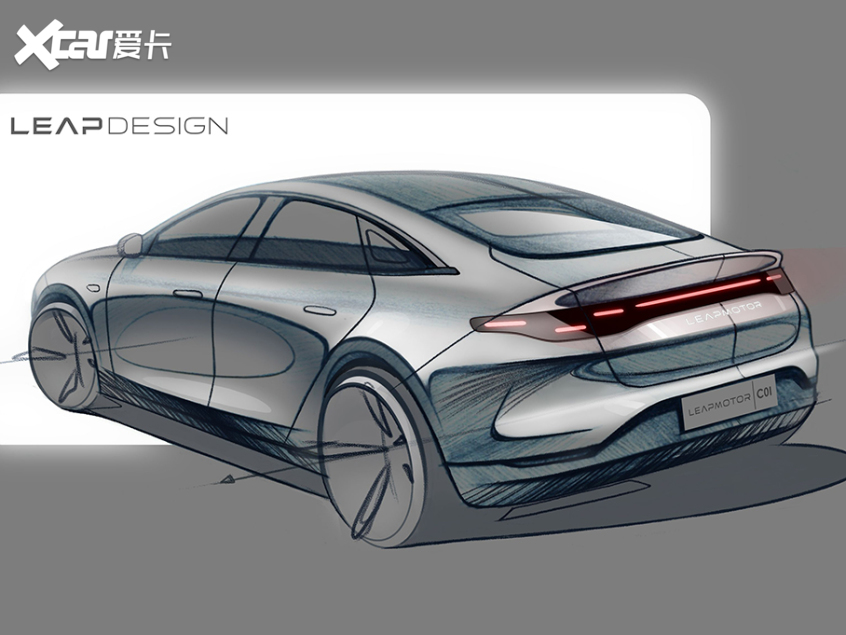 2021上海车展:零跑C01设计图正式发布