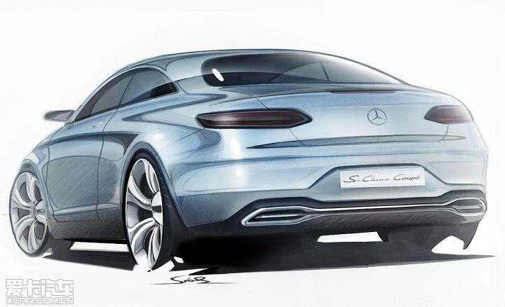 奔驰新s级coupe设计图