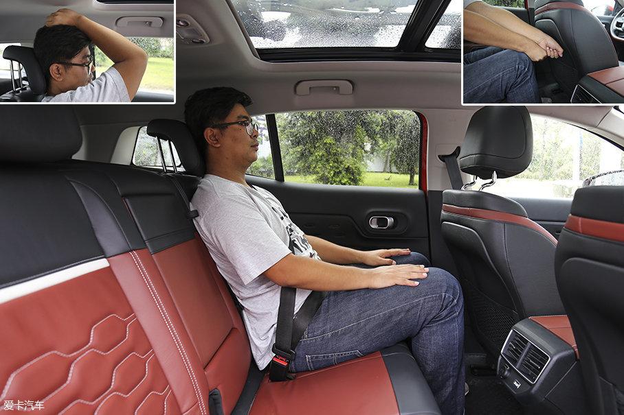 车辆后排的腿部空间和头部空间充足,其中后排的腿部空间在两拳以上,这样的表现在同级别车型中基本没有对手。