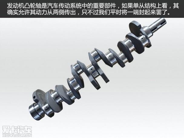常见纵置发动机的四驱结构,动力是由发动机传出,经过变速箱,分动箱