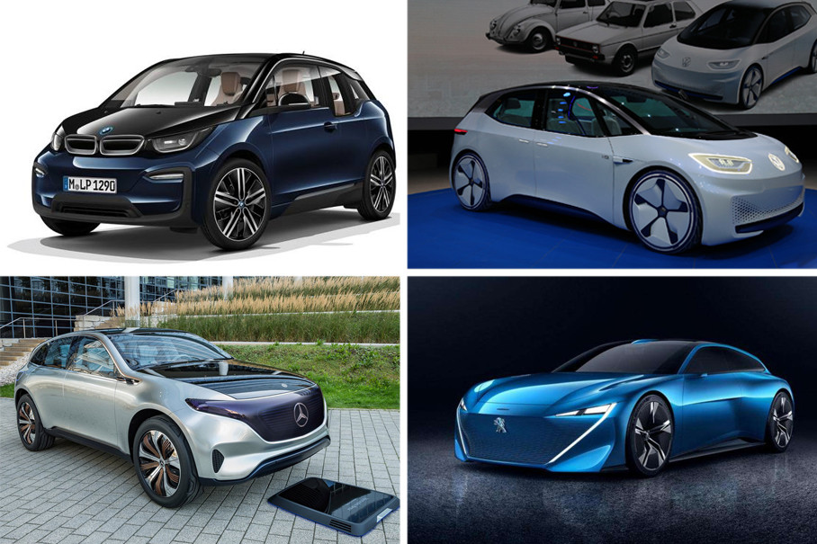 欧美品牌的新能源车型造型各异,设计风格也较为前卫、时尚。车身形面变化丰富,这样就加强了整车造型未来感。