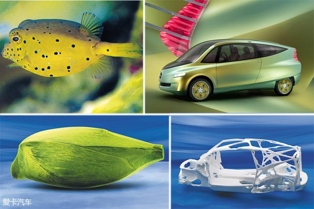 [爱卡汽车 汽车视觉 原创]   一百多年来,汽车随着时间的流逝而改变,动力、布局、技术,都有质的飞跃,但是最大的改变一直是汽车的外形,汽车的外形千变万化,这都是根据设计师的灵感决定的,设计师的灵感来源于生活的很多地方,但是他们更多的是向大自然学习寻找灵感,于是这样的设计方式就形成了一门新的学科——仿生设计学。    地球上最神奇的事物莫过于生命,无论动物还是植物,都在数百万年的进化过程中获得了近乎于完美的特性。可能来自于它们的外形、结构、习性或者行为,具备一些极具利用价值的特