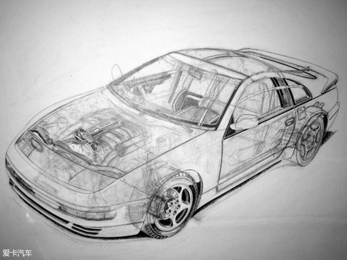 汽车结构透视手绘图(10/23)