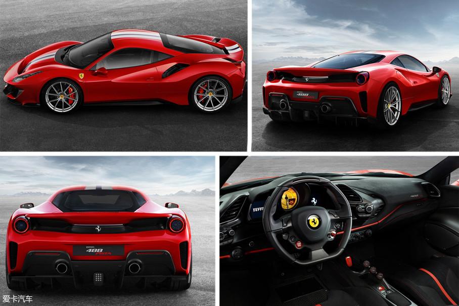 该车整备质量仅为1280kg,相比488 GTB(1370kg)减少90kg。而车身尺寸长、宽、高分别为4605/1975/1206mm。