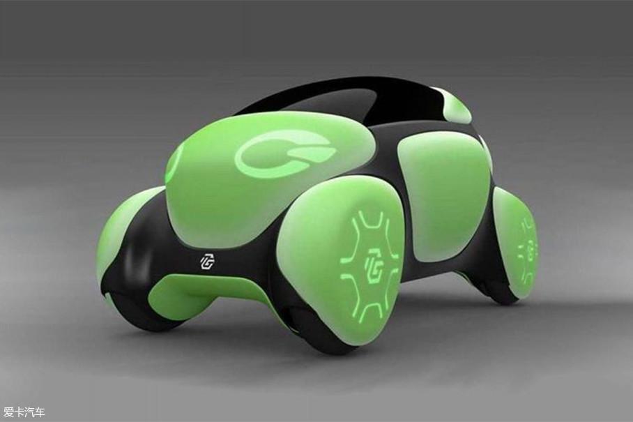 此Toyoda可不是大家熟悉的丰田,而是知名的橡胶、塑料和LED专家——丰田合成株式会社(Toyoda Gosei),这款名为Flesby II的概念车,外形由几个绿色的块面组成,酷似一个乌龟壳。