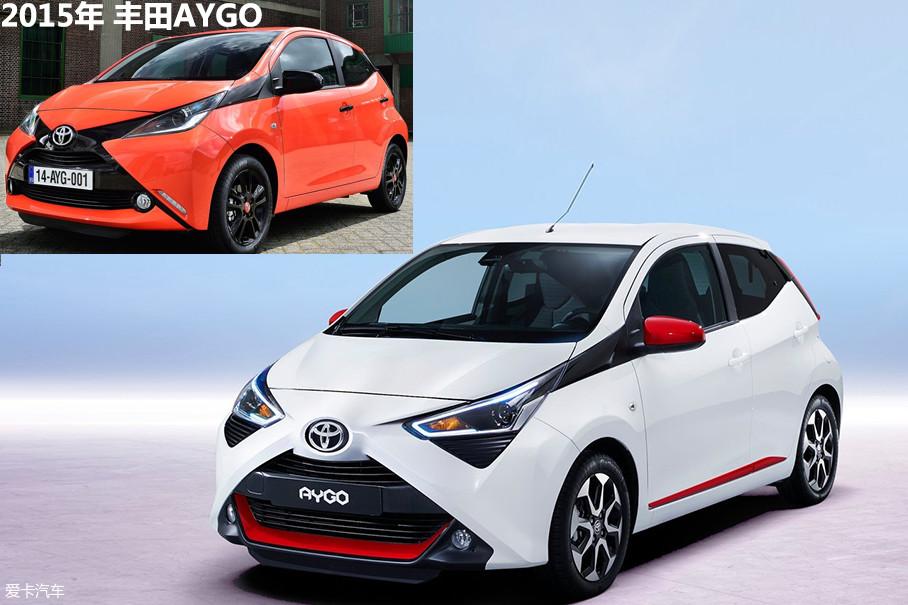 """新车与2015年的AYGO相比并无太大变化,前脸继承了那极具辨识度的X型前脸,只不过""""X""""部分的颜色变成了车身同色,这样的设计让前脸更为协调。"""