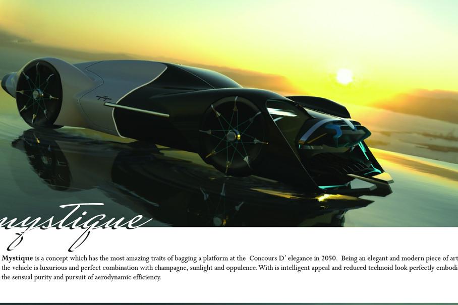 Mystique凭借其智能科技和极简外观,获得了本次大赛的第二名,它完美地体现了感性的优雅和对空气动力学的追求。