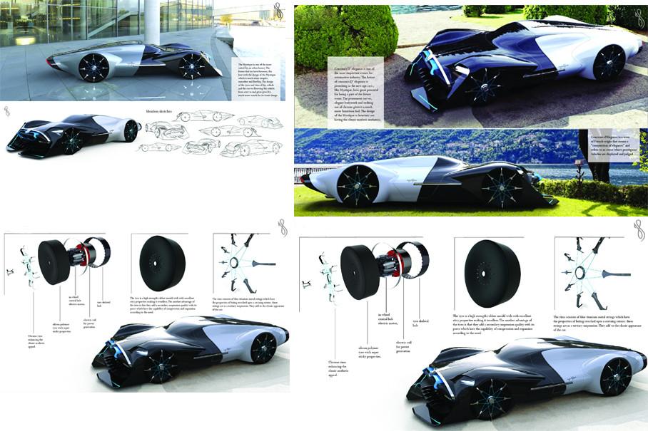 设计师在车辆及其零件的设计上进行了大量的思考。优雅的车身配合突出的曲线与醒目的镀铬使其更加具有复古的感觉。这使它成为了一种现代艺术的收藏品。
