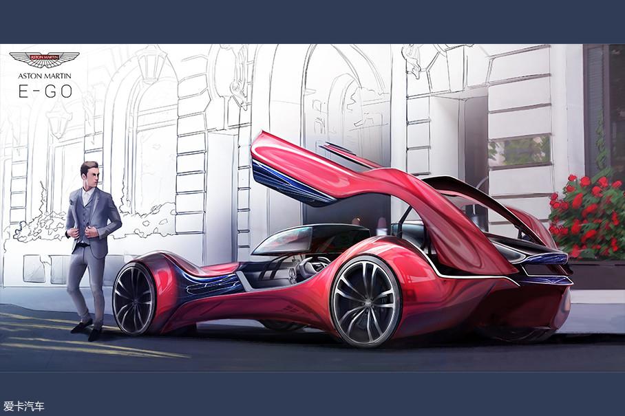 Aston Martin E-GO是法国巴黎的设计团队所设计,该团队喜欢研究新技术对我们日常生活的影响。本次大赛他们选择阿斯顿·马丁品牌来展现社交与交通工具的融合。