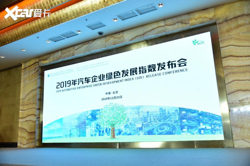 2019汽车企业绿色发展指数发布