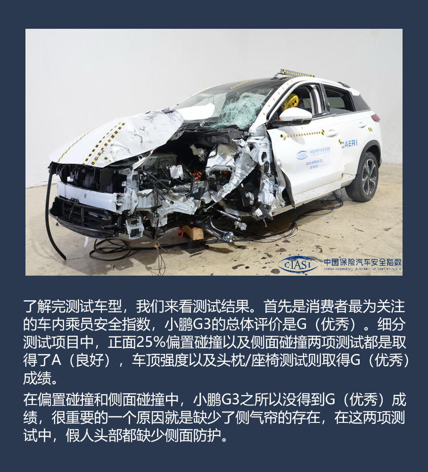 小鹏G3安全测试