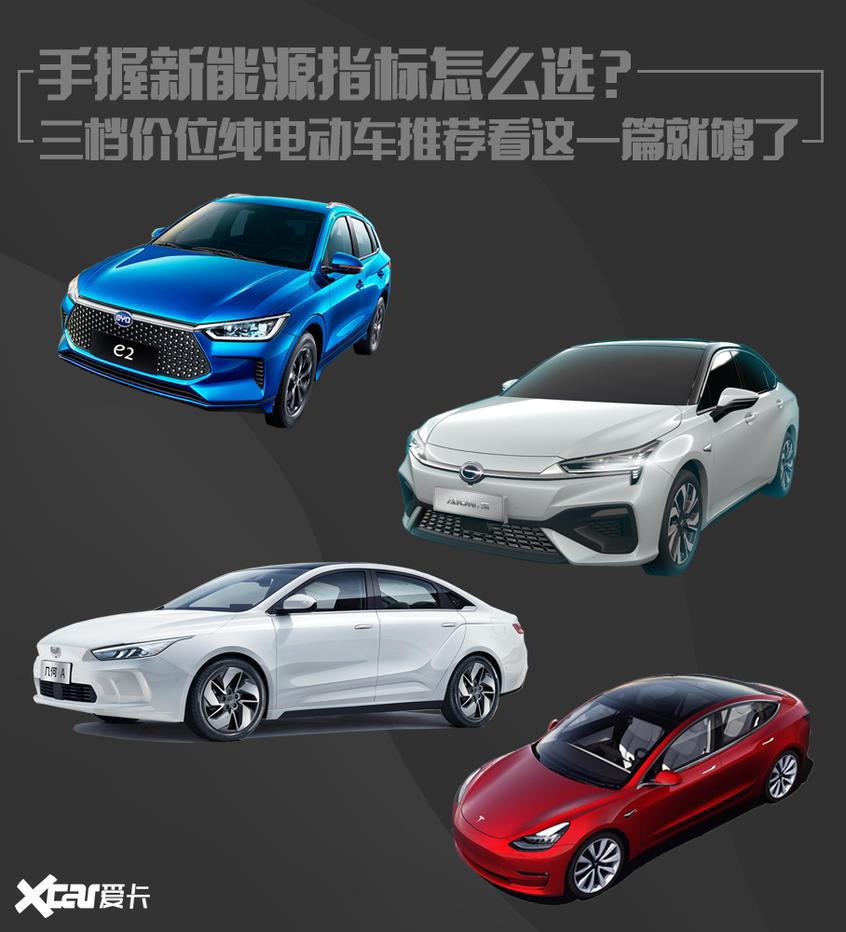 手握新能源指标怎么选?三档价位纯电动车推荐看这一篇