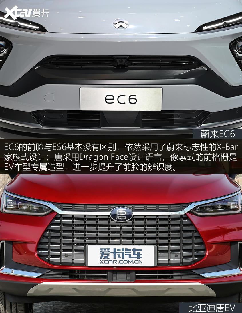 EC6对比唐EV