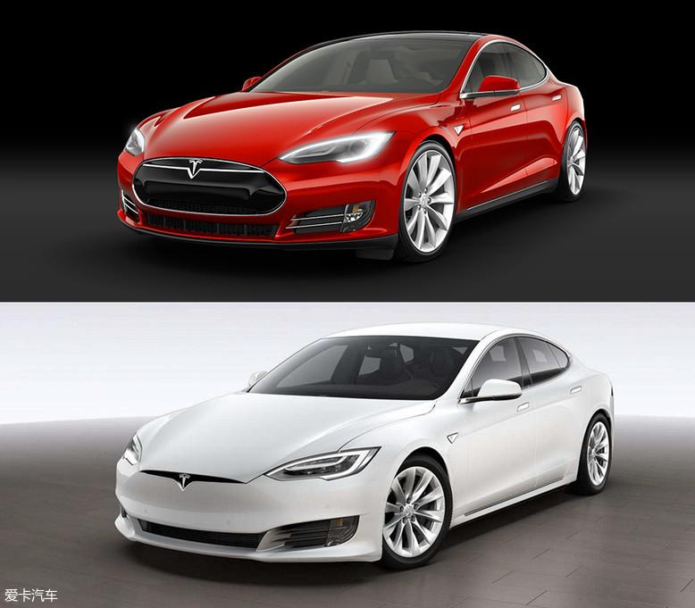 特斯拉Model S在改款时也力图与传统设计分割开来。但重要的是,新款并不是简单地把老款上黑色的部分变成和车身同色,而是重新设计了前脸,所以看起来还是很协调的。