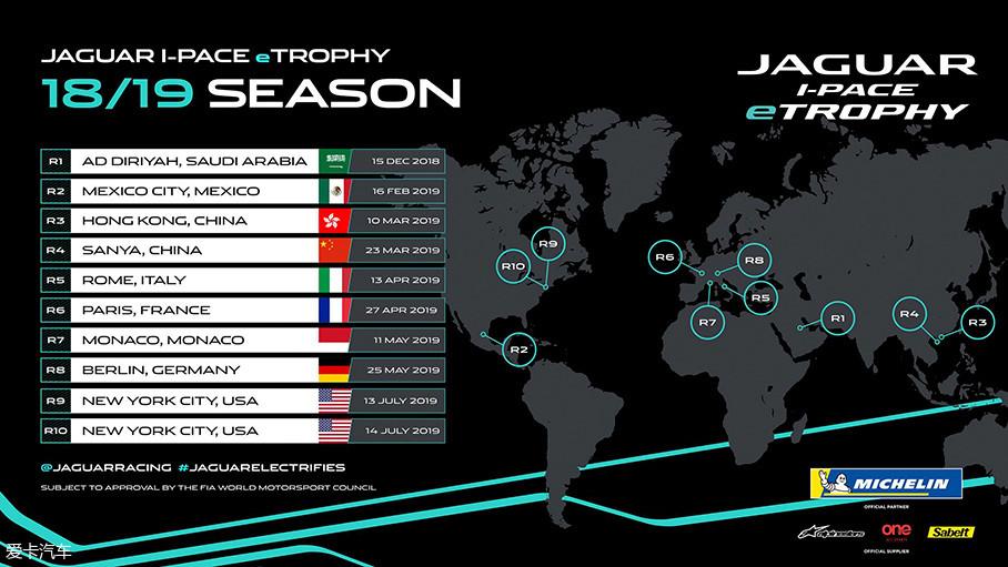 作为Formula E各站赛事的垫场赛,eTROPHY赛事的规划与前者一致,它将在全球各地进行10站比赛的角逐。值得一提的是,在明年3月,eTROPHY将先后在香港和三亚这两个中国城市举办。