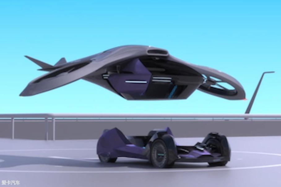 Concept A Active-agility由座舱模块和驱动模块这两部分构成。它的座舱模块可以与多种载具相结合,既能上天,又能下海。