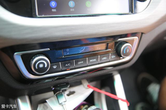 只是自动空调更显高档罢了.远景X3的手动空调按钮少,上手难度低高清图片