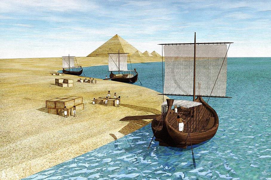 """最早的""""润滑""""概念来自古埃及人,他们修建金字塔时要搬运巨石,在地上铺设滚木,用人力或畜力拖拽。为了减轻阻碍和摩擦,他们会寻找一些天然的油脂或湿泥来润滑。"""