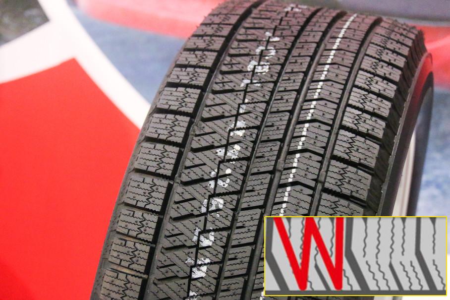 W型设计能够提升在刹车时对于花纹块的支撑,减小蠕动,从而提升花纹块的刚性以及刹车性能。