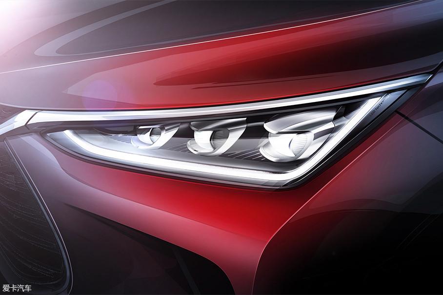 因此前车灯的设计也是向上扬的线条设计,与整车设计线条相融合,视觉效果更和谐。