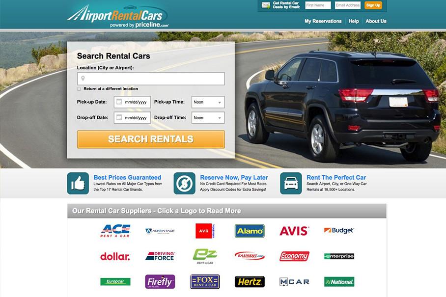 首先通过网站查询各大租赁公司的讯息,Rentalcars是一个类似于携程网的大型综合性租车网站。网站几乎涵盖了所有租车公司的产品讯息。