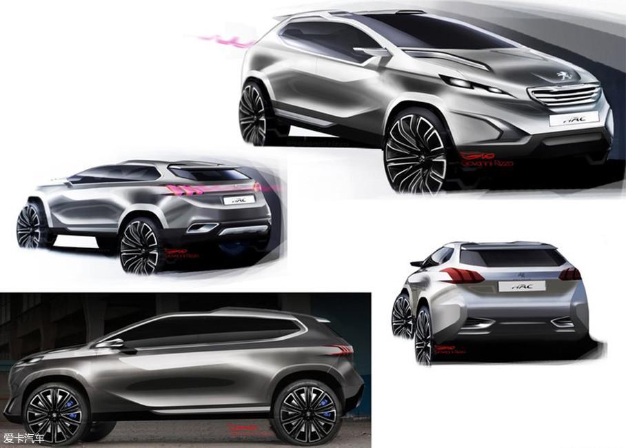 反观标致,在2012年推出的Urban_Crossover_Concept(都市跨界概念车)定义了现在标致3008、4008和5008三款车型的设计方向。