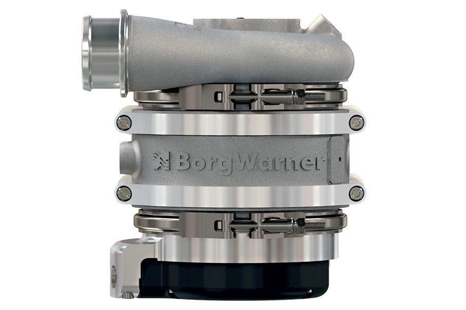 在48V电压基础上,电动涡轮应运而生,博格华纳为此专门推出eBooster电动涡轮增压器,目前其产品已经装备在了奔驰最新的直列6缸发动机上。