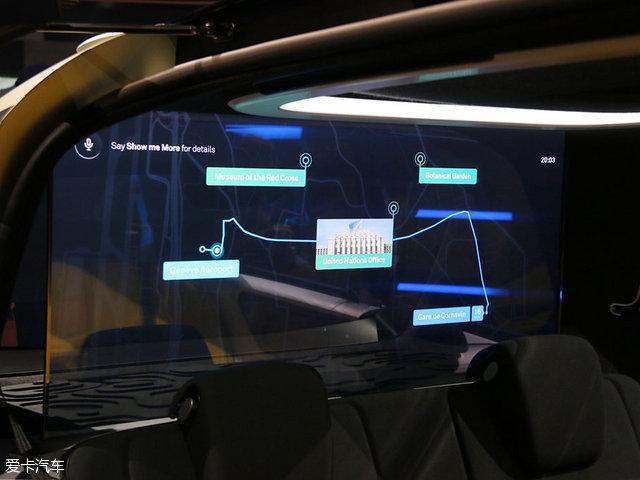 另一个就是语音操作,这个更多用在导航设置方面,比如进入车内,我们可以通过语音与车辆交流,设定目的地等。