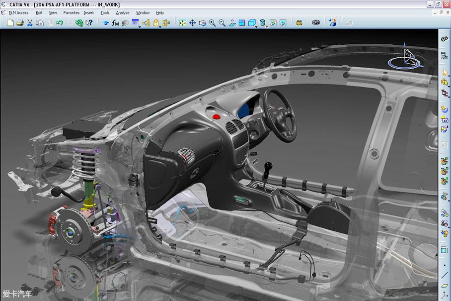 设计,而当模具变得复杂时,则改用catia进行3d建模以及用于a级曲面的