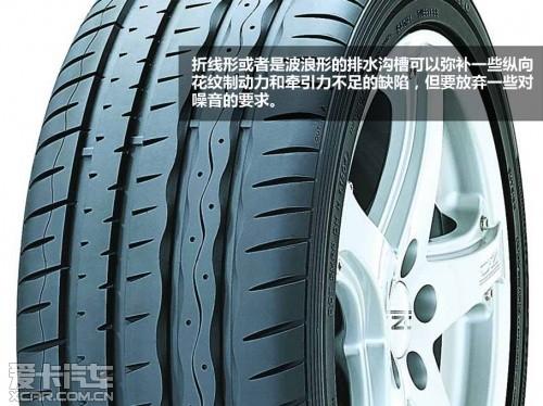 轮胎花纹存奥妙 爱卡解析轮胎性格特点