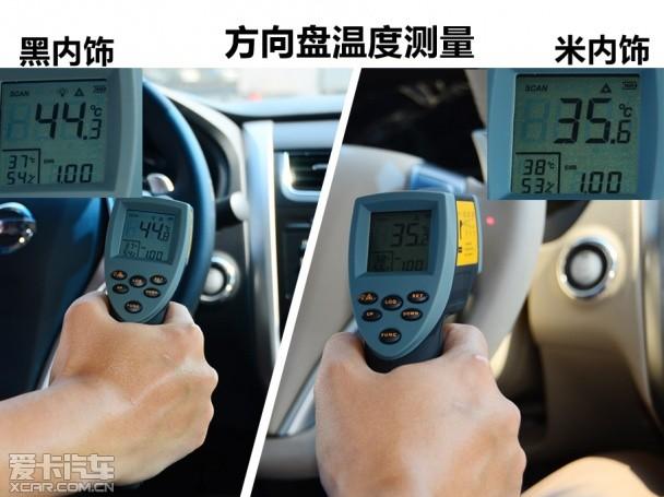 直面暴晒 爱卡实测颜色对车内温度影响