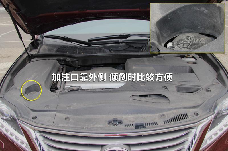 2013款雷克萨斯rx270 豪华版玻璃水加注 雷克萨斯rx全车详解 高清图片