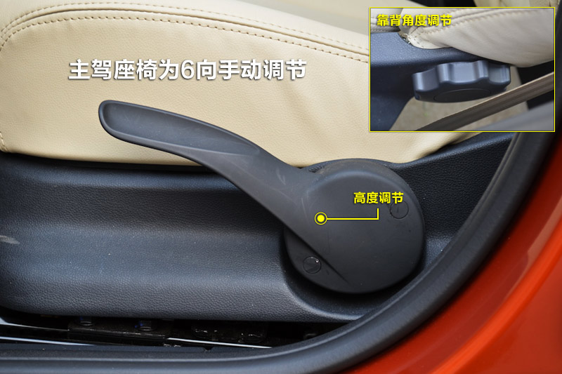 座椅靠背调节旋钮