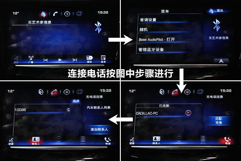 连接蓝牙电话的步骤请参考图中顺序去做就好.