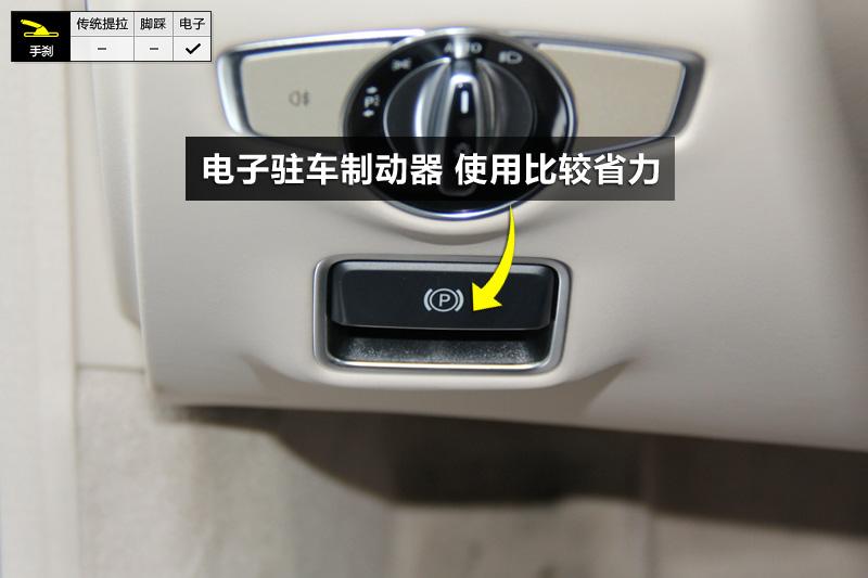 电子驻车制动器在方向盘左侧,使用比较省力.