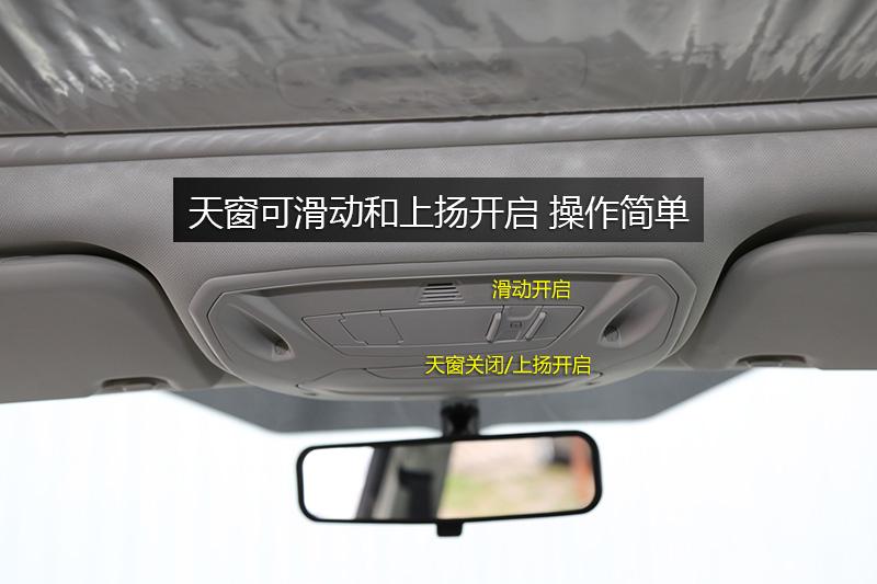 天窗开关标识清晰,操作简单易懂