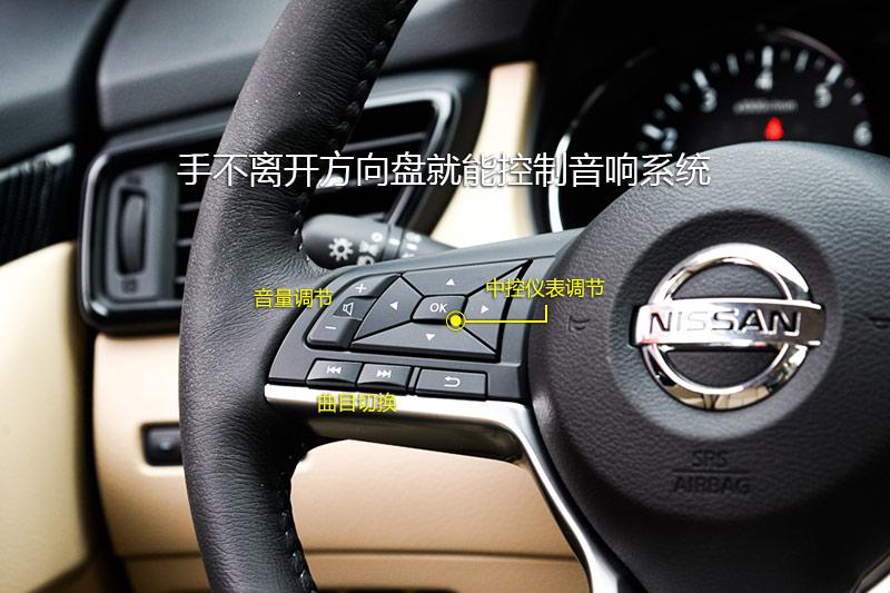 手不离开方向盘就能控制音响系统,左侧按键还能控制仪表液晶屏显示